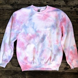 Sweaters - Cotton Candy Tie Dye Crewneck
